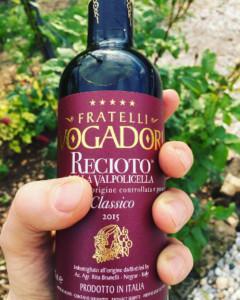 Un buon vino per accoppiare il ciambellone è senza dubbio il recioto della valpolicella!