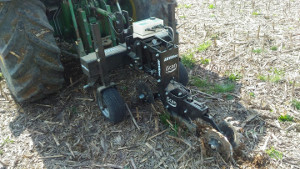 IScan attaccato al terzo punto del trattore e che lavora nel suolo