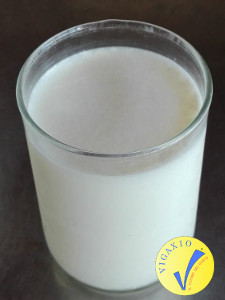Un bicchiere di latte