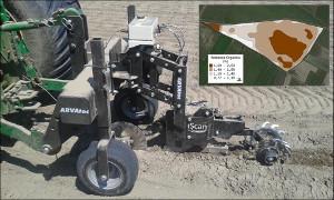 IScan che esegue le misurazioni sul suolo in tempo reale